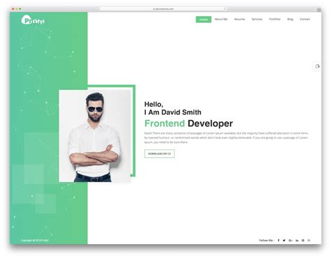Resume Template Website by 30 Top Resume Website Templates For Cvs 2019 Colorlib