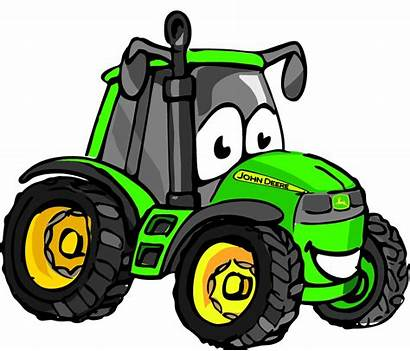 Deere Tractor John Cartoon Tractors Clipart Clip