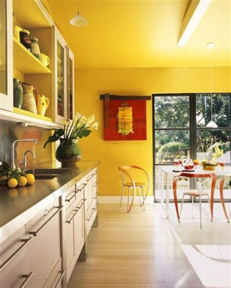 yellow kitchen cabinets what color walls yellow painted kitchen designs creative useful tips 2138