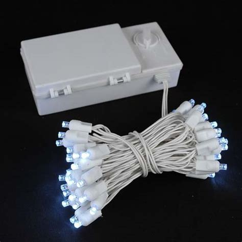 50 led battery operated lights white on white wire novelty lights inc