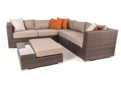 liana 6 modular patio furniture sectional set ogni