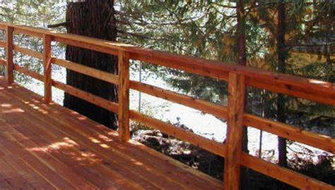 Horizontal Deck Railing Plans by 100s Of Deck Railing Ideas And Designs