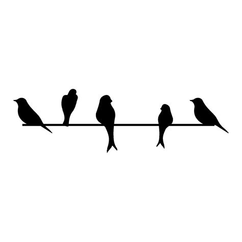Birds On A Wire Wall Quotes™ Wall Art Decal | WallQuotes.com