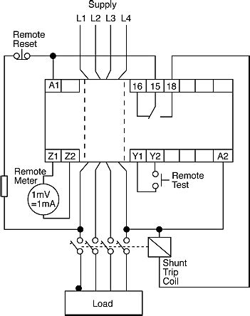 Earth Leakage Relay Wiring Diagram by 554118 Circutor Earth Leakage Monitoring Relay With Spdt
