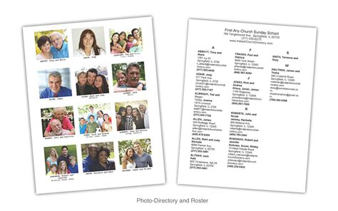 free church photo directory template communication resources inc comresources store