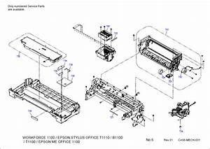 Epson Stylus Office T1110 B1100 T1100 1100 Parts Manual