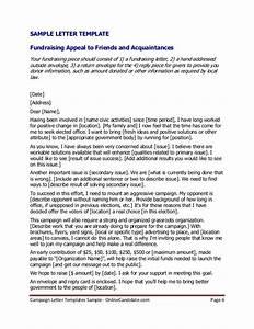 political campaign letter templates sample With political fundraising letter template