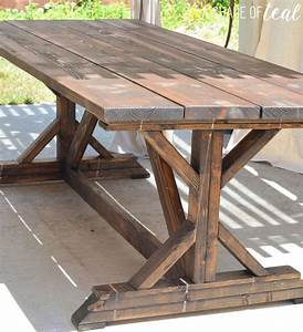 Building a Outdoor Rustic Farmhouse Table A Shade Of Teal
