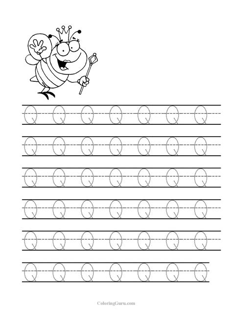 Free Printable Tracing Letter Q Worksheets For Preschool  Tracing Worksheets Pinterest