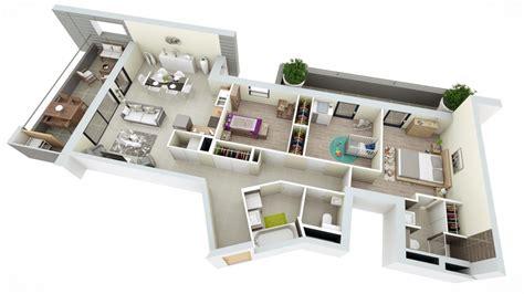 appartement 3 chambres plan appartement 4 chambres