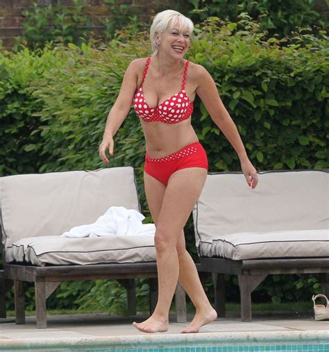 denise welch bikini body pictures  loses