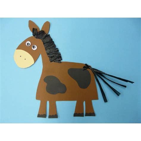 basteln pferd ein nettes pferd aus fotokarton basteln