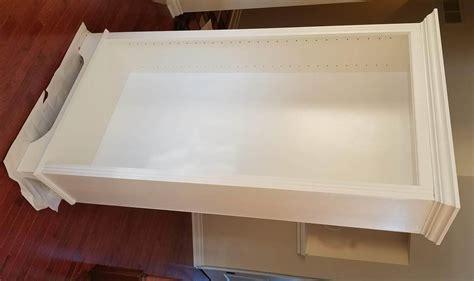 maple bookcase  fluted trim ana white