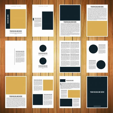 Multi Page Brochure Template by 12 Page Booklet Template Vector Free