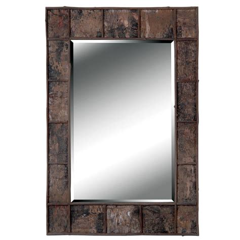 Jobi Birch Bark Wood Wall Mirror  14535033  Overstock. Rustic Vanity. Two Tone Kitchen Cabinets. All Glass Coffee Table. Vaulted Ceiling Lighting. Hardware For Kitchen Cabinets. Bohemian Room. Stone Shower Walls. Rolling Kitchen Island
