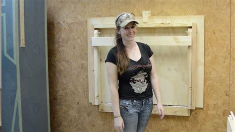build  diy fold  workbench  save floorspace