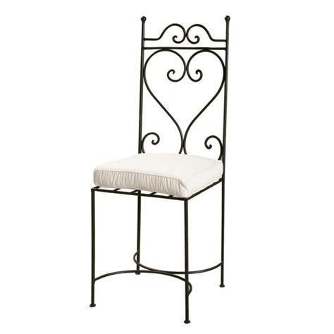 chaises en fer forg chaise en fer forgé marron toscane maisons du monde