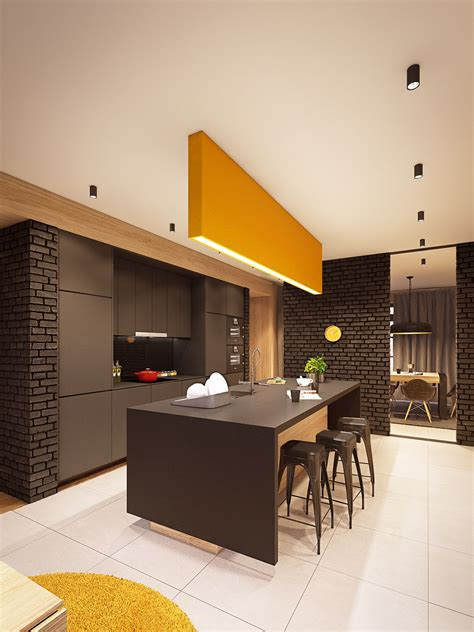 A Seductive Home With Lush Colors And Baths by Next Lifetime Warszawa On Behance A33107 Kitchen
