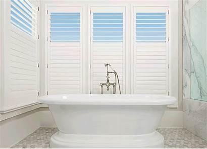 Shutters Palm Polysatin Motorized Window Bathroom Douglas
