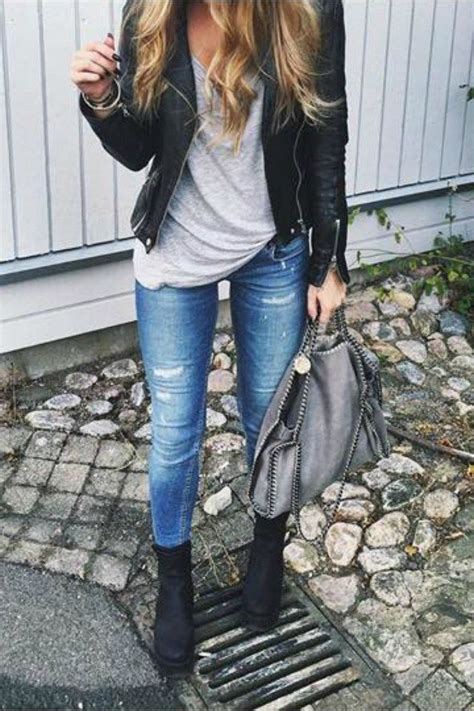 Best 25 Blue Leather Jacket Outfit Ideas On Pinterest