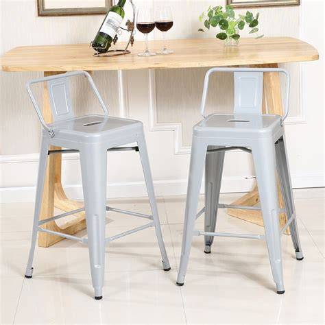 4 pc bar stool height with low back onebigoutlet