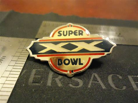 Authentic 1986 Nfl Super Bowl Xx Pin Nfc Chicago Bears Vs
