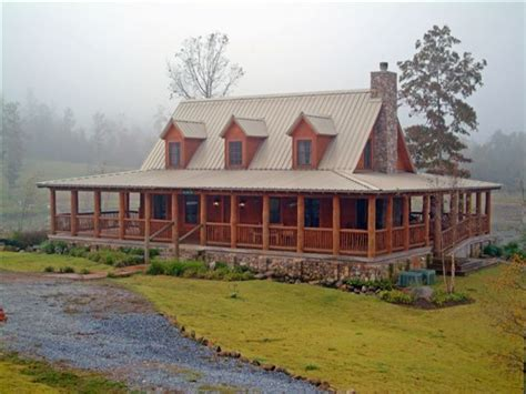 log cabin  wrap  porch house  glass log stained cabins lookdoors small cabin