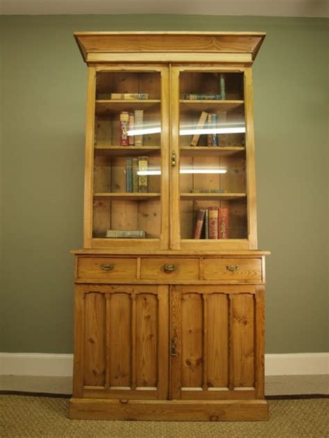 Antique Pine Bookcase by A Small Pale Pine Bookcase Cabinet Antiques Atlas