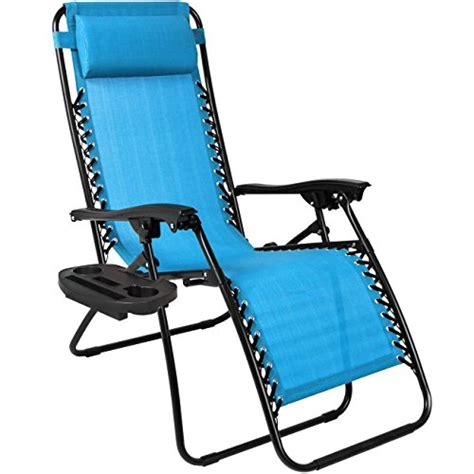 best choice products set of 2 zero gravity chairs light blue