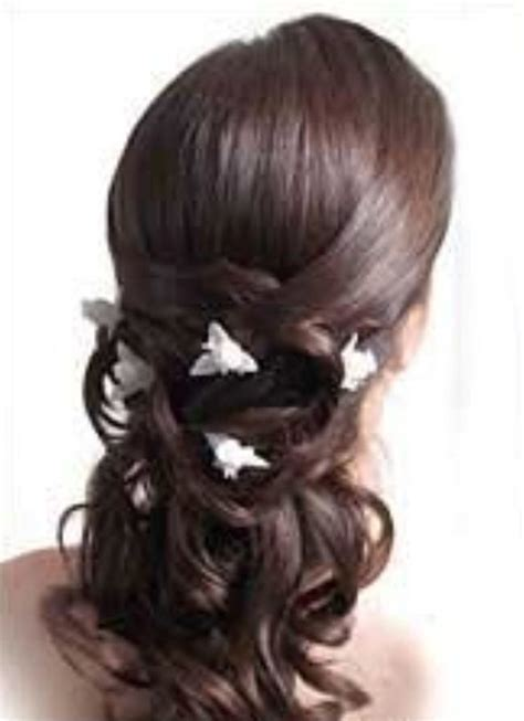 curly haircuts curly half updo pictures jpg 1888