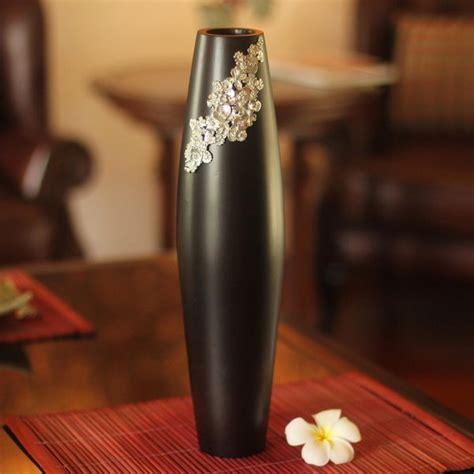 Handcrafted Vases by Shop Handmade Mango Wood Pewter Thai Garden Vase