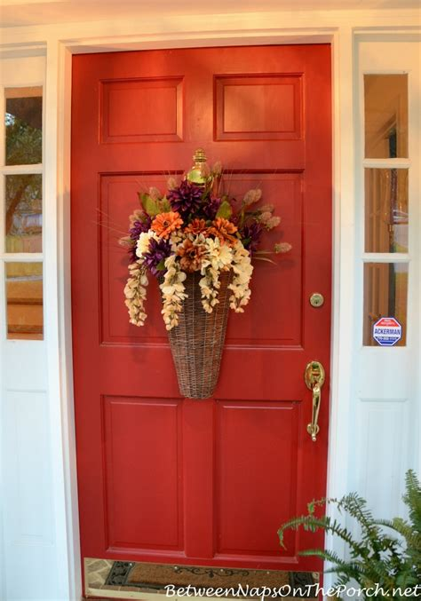 fall wreaths for front door floral autumn basket instead of a wreath for the front door
