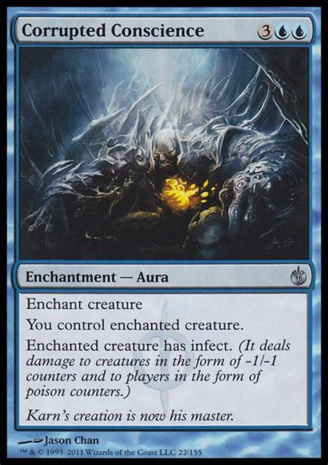 mtg infect deck tapped out corrupted conscience mbs mtg card