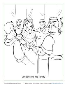 joseph   family coloring page