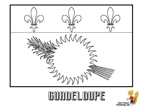 Flag Of Guadeloupe Pictures To Print Out