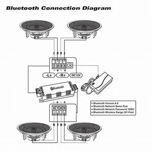 pyle pdicbt266 65 inch bluetooth ceiling wall With car audio amplifier 2 12quot car subwoofers sub amp amp wire kit tweeters