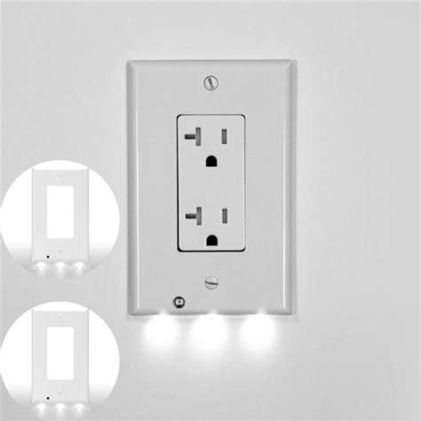 plug cover led light pir motion sensor activated