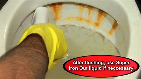 super iron    clean   rusty toilet youtube