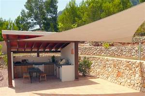 Terrasse und garten sonnenschutz ideen sonnensegel und for Markise balkon mit tapeten für küche