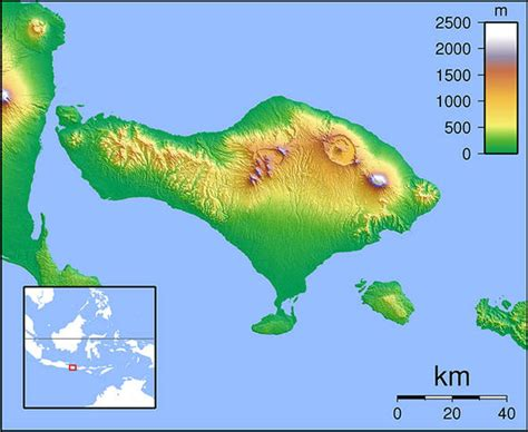 mount agung map    bali volcano threatening