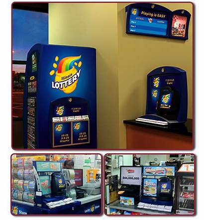 Lottery Displays Illinois Display Counter Ticket Camelot