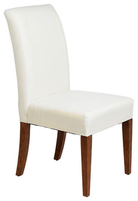 parson dining chairs cherry legs contemporary parsons muslin cherry leg armless dining