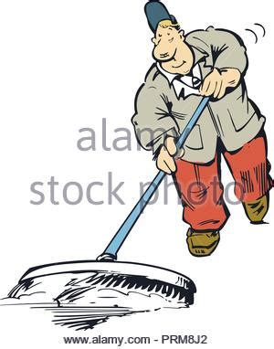 den boden wischen mann reinigung boden mit mop vektor abbildung bild 207644727 alamy