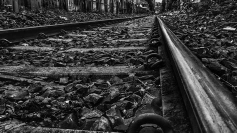 Wallpaper Black And White by Railroad 4k Ultra Hd Wallpaper Background Image