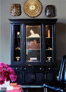 best 25 black china cabinets ideas only on pinterest With best brand of paint for kitchen cabinets with turtle shell wall art