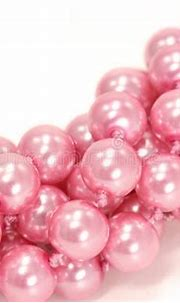 Pink pearls stock image. Image of romantic, rich, give ...