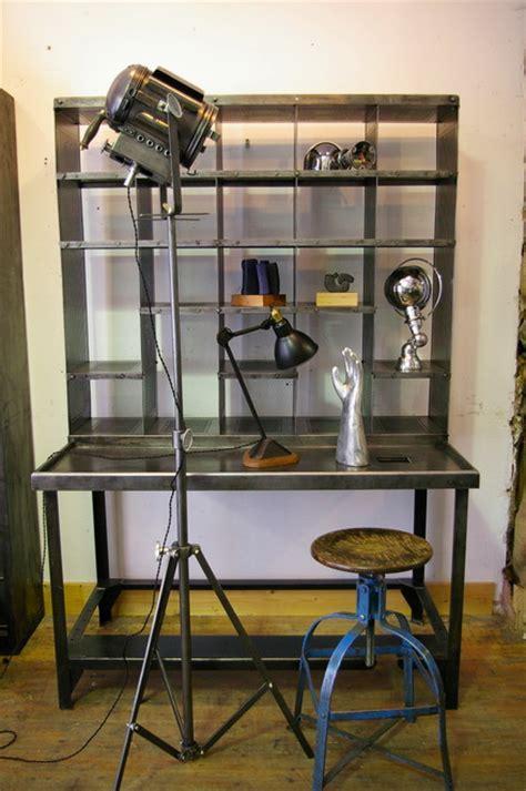bureau atelier industriel meuble metier bureau tri postal industriel atelier loft