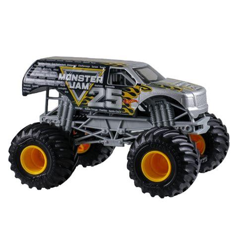 monster trucks for kids video 1 24 wheels monster jam 25th anniversary truck