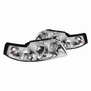 Spyder® - Ford Mustang 2003 Chrome LED Halo Projector Headlights
