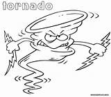 Tornado Coloring Pages Angry Cartoon Printable Outline Instrument Categories sketch template